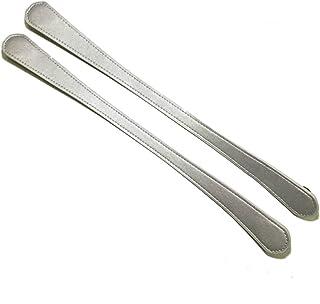 Tamaño corto 47cm 1 par de colores planos de cuero de la PU asas para las mujeres bolsos bolso de hombro bolso de plata