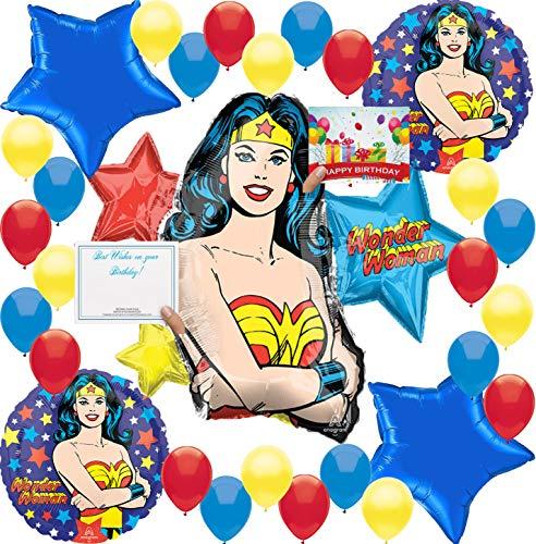 Wonder Woman Birthday Balloon Decorations Bundle for (XL Balloon KIT)