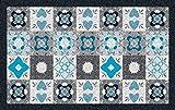 ID MAT DALLAS4060171122D Dallas Tapis Fibres Synthétiques/PVC Bleu 40 x 60 cm