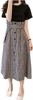 [エムズ モア] セットアップ スカート tシャツ カジュアル レディース 夏 M~3L