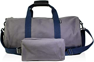 Owen & Fred Blue Mens Traveler Duffel and Toiletry Kit Combo Gray Not Applicable