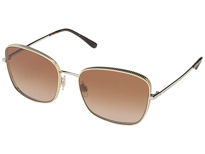 Dolce & Gabbana DG2223 (Gold/Silver/Brown Gradient) Fashion Sunglasses