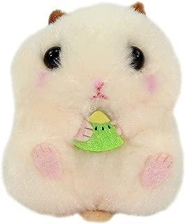 Amuse Hamster Plush Coroham Coron Beige Eating Kiwi Plushie 3