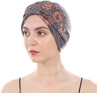 Cotton Turbans Satin Liner Double-Layered Beanie Chemo Cap Sleep Bonnet