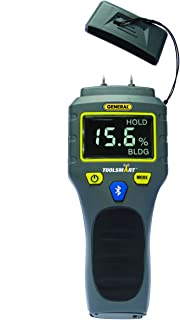 General Tools TS06 - ToolSmart BlueTooth Connected Digital Moisture Meter, Pin-Type, LCD