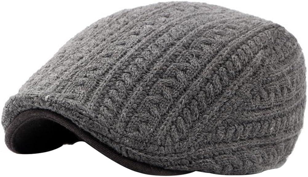 Freedi Attention brand Men's Classic Herringbone Cotton Newsboy Max 85% OFF Flat Knit Cap Hu