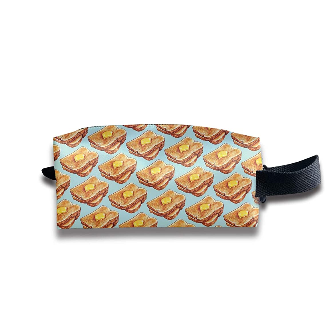 SHdYtrt Toast Toiletry Bag Multifunction Portable Wash Bag Cosmetic Organizer Pouch