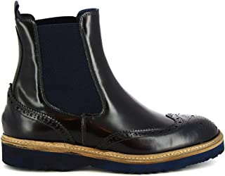 LEONARDO SHOES Luxury Fashion Mens M63105DALLASBLUE Blue Ankle Boots | Season Permanent
