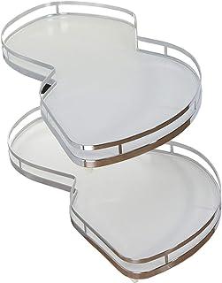 Kitchen supplies Étagère de Rangement rotative réglable à 2 Couches, boîte de Rangement d'angle pour armoires de 900 mm, t...
