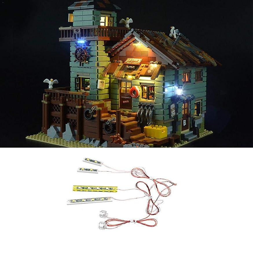 LED Lighting Kit, DIY Luminous Building Block Assembly, LED Light Lighting Set for Lego Ideas Old Fishing Store 21310 Building?Blocks(Lego Set NOT Included)