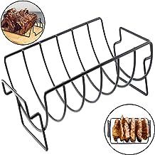 Mioloe Asador de costilla BBQ Asado A la parrilla Asador en V Parrillas de acero inoxidable Cocina exterior de doble uso