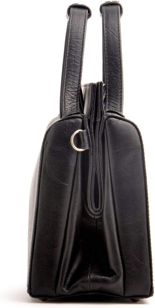 Ostwald Traditional Craft Estelle Sac à main en cuir italien pour femme Noir