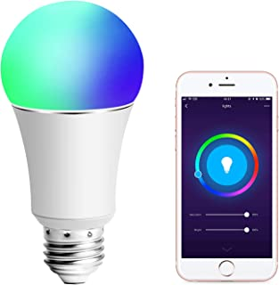 Smart Light Bulb, Compatible with Alexa and Google Assistant and IFTTT, 90W Equivalent, E27 A19 RGBW Edison Bulb, 8 Scene Mode, No Hub Required - 1 Pack
