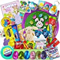 Kids Easter Care Package - Games, Frisbee, Candy, Snacks, Toys, Plush Bunny - Basket Fillers Stuffers Eggs Box, Boys, Girls, College Student, Child, Grandchildren, Toddlers
