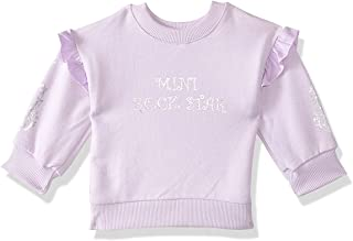 Giggles Printed Round-Neck Ruffled Long Sleeves Sweatshirt for Girls