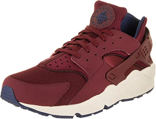 NIKE Mens Huarache Running chaussures Team rouge Navy Sail 318429-608 Taille 10.5