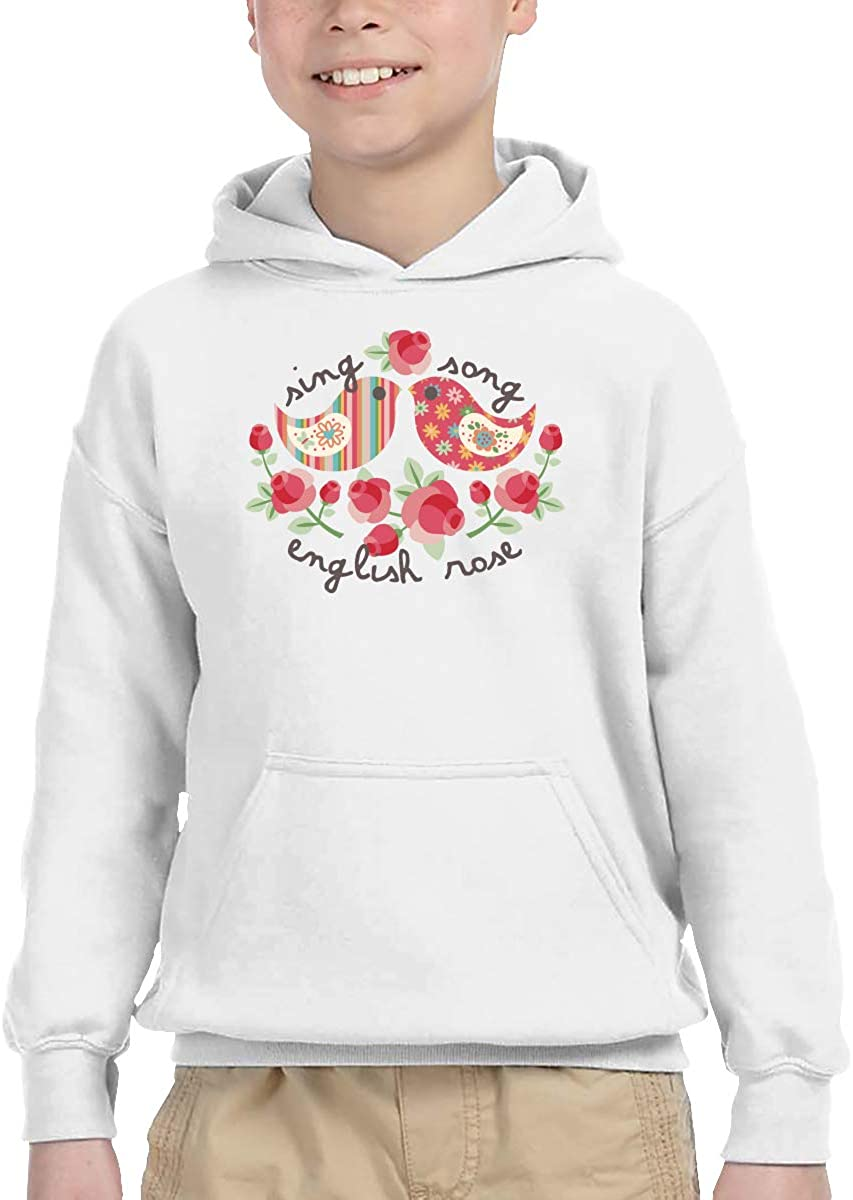 ShenigonFlowers and Birds Pullover Hoodie Sweatshirt Teens Hooded for Boys Girls