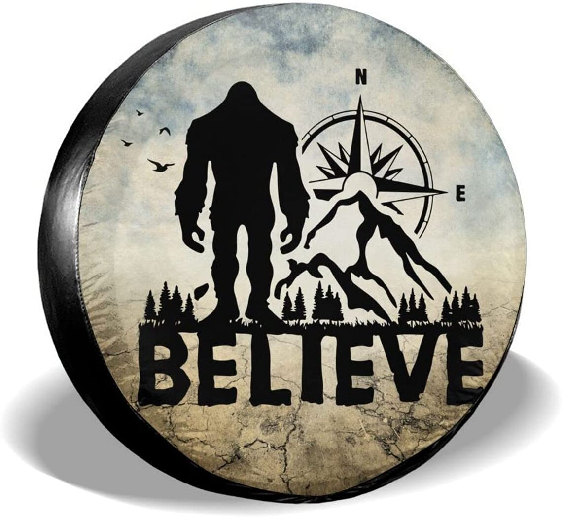 cozipink Ranking TOP5 Bigfoot Believe shopping Spare Tire Cover Weath Wheel Protectors