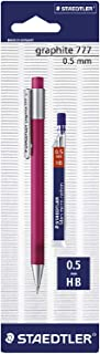 Staedtler ST-777-5SBK25D Mars Micro Graphite 0.5 Mechanical Pencil with Leads(Random color)