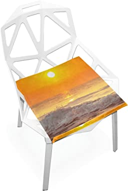 DOENR Sunset Ocean Seat Cushion Chair Cushions Covers Set Decorative Indoor Outdoor Velvet Double Printing Design Soft Seat C