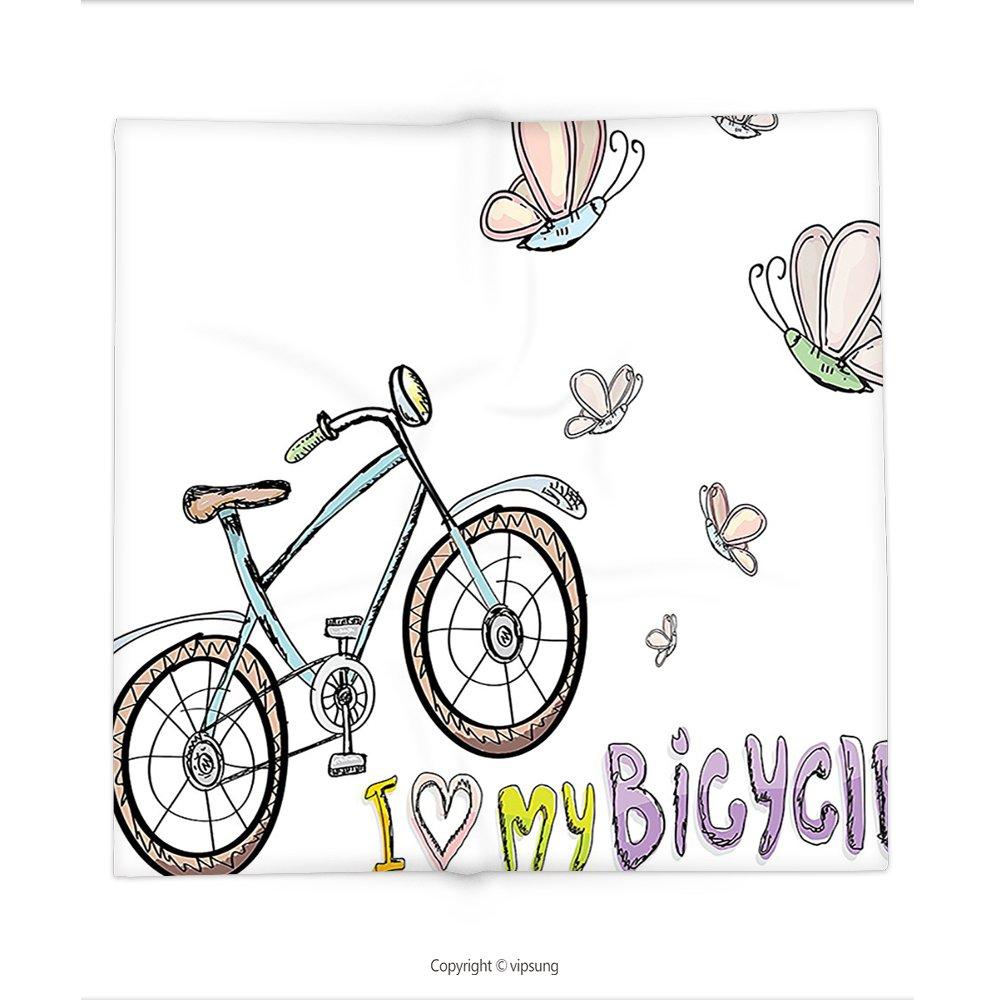 vipsung Manta Bicicleta Decor Doodle Estilo Ciclismo Ocio Tema con ...