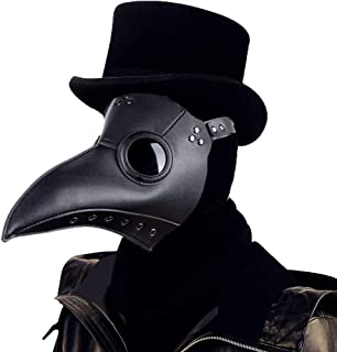 Plague Doctor Mask Gothic Cosplay Retro Steampunk Props Long Nose Bird Beak for Halloween Costume