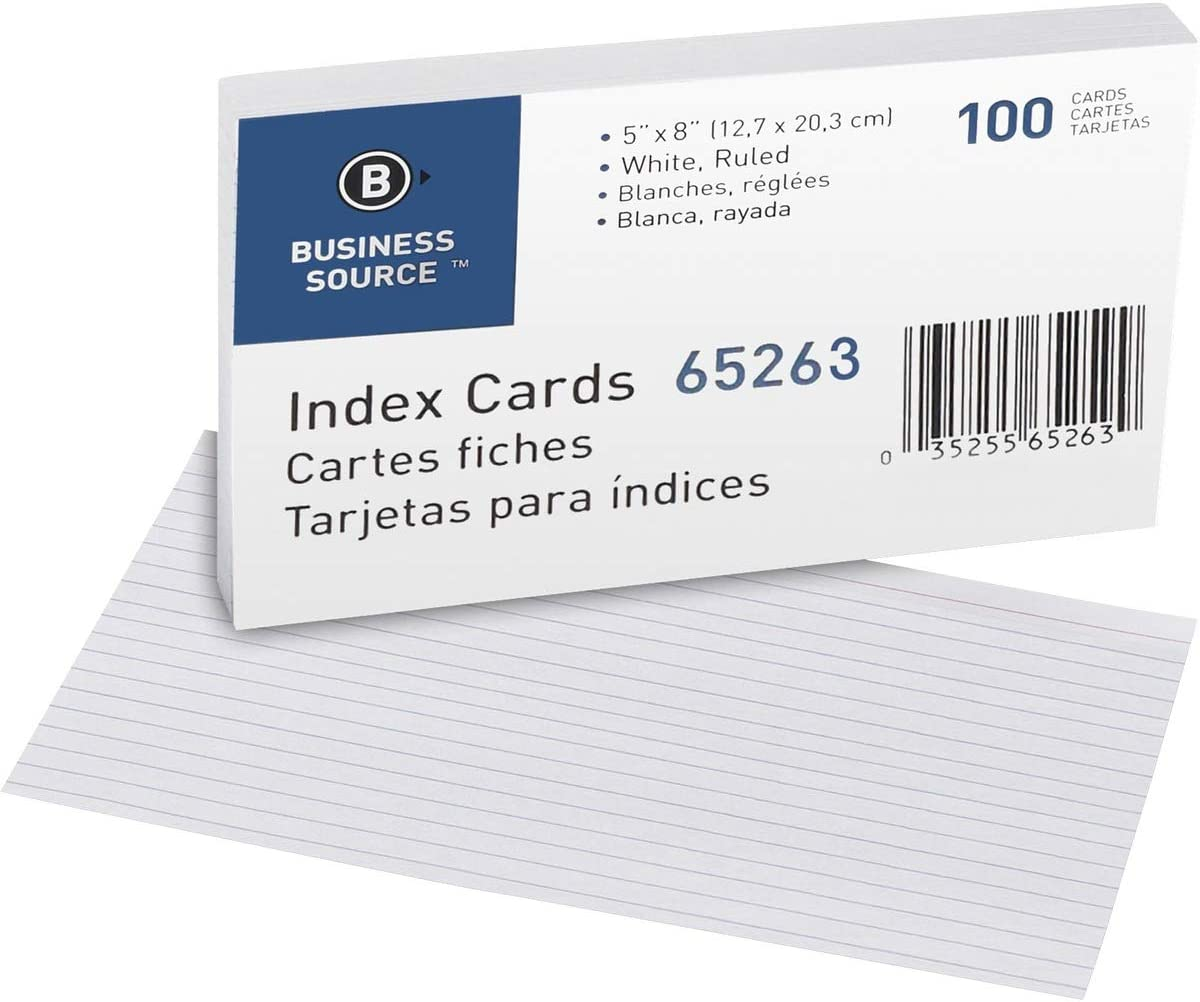 online shop Bus. Source Credence Ruled White Index Cards 40 - Pack