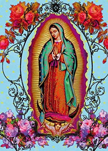 5D DIY Diamond Painting Lady of Guadalupe 16X20 inches Full Round Drill Rhinestone Embroidery for Wall Decoration