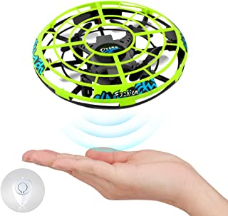 Baztoy Flying Ball RC UFO Flying Saucer Toys Hand Controlled Mini Drone Remote Control Helicopter Toy Hover Ball New Birthday Gifts with Cool LED Light Indoor Outdoor for Kids, Adults, Girls and Boys