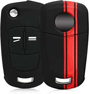 kwmobile Funda Compatible con Llave Plegable de 2 Botones para Coche Opel Vauxhall - Carcasa Protectora Suave de Silicona - Rally