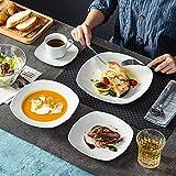 MALACASA, Serie Elisa, 60 TLG. Set Tafelservice Porzellan Kombiservice mit 12 Kaffeetassen, 12 Untertassen, 12 Dessertteller, 12 Suppenteller und 12 Essteller - 6