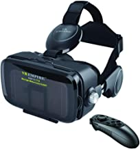 VR Headset Virtual Reality Headset 3D Glasses with 120°FOV, Anti-Blue-Light Lenses, Stereo Headset, for All Smartphones with Length Below 6.3 inch Such as iPhone & Samsung HTC HP LG etc. (V7.0 -BR)