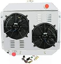 OzCoolingParts 66-79 Ford F-Series Radiator Fan Shroud Kit, 3 Row Core Aluminum Radiator + 2 x 12