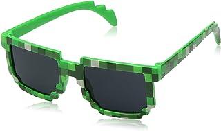 Pixel Kids Sunglasses - Novelty Retro Gamer Geek Glasses...