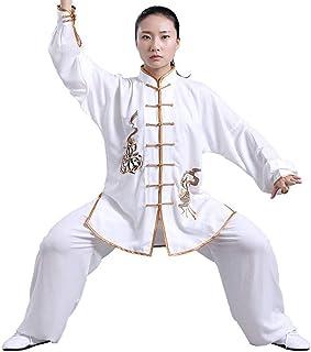 MissZZ Costume de Tai Chi Chinois Tang Costume Hommes vêtements Traditionnels Hanfu Manches brodées Hauts et Pantalons, Bo...