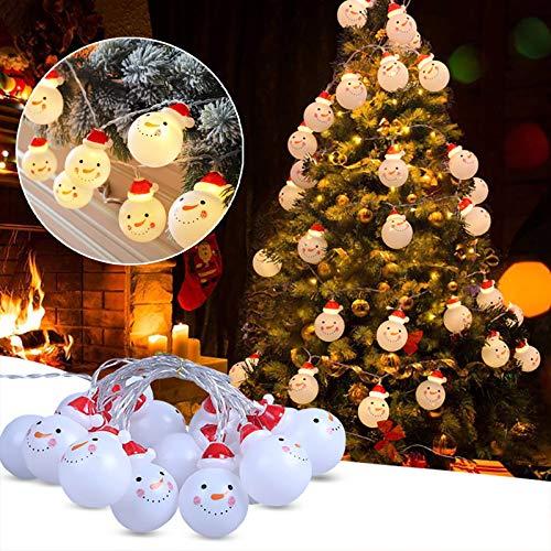 KAKIO Christmas Snowman String Lights, 6M 40 LED Snowman Lights Battery Operated String Lights for Christmas Party Decoration
