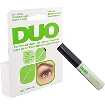 Duo Brush on Striplash Adhesive White/clear for Strip Lashes False Lashes Thin Brush Allows Effortless Application- Size 5 G / 0.18 Oz