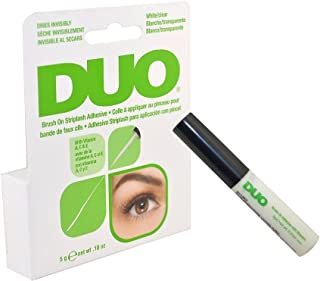 Duo Brush on Striplash Adhesive White/clear for Strip Lashes False Lashes Thin Brush Allows Effortless Application- Size 5 G/0.18 Oz by Godefroy