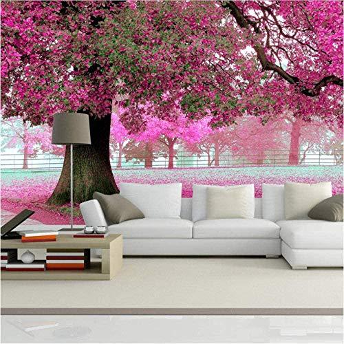rylryl Benutzerdefinierte Fototapeten 3D Romantische Kirschbaum Tv Hintergrund Home Wallpaper Decor Wohnzimmer Sofa Wandbild Tapete-300x210cm