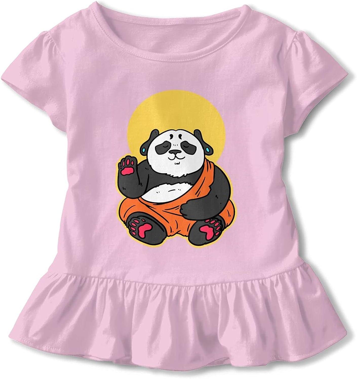 Buddhist Gift Gautama Art Buddhism Panda Baby Girls Cotton T-Shirt Top & Tee Dresses