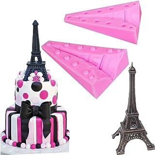 DUBENS 3D Tour Eiffel Moule Silicone Moule Cookie Fondant Gâteau Décoration Chocolat Pudding DIY Bonbons Pâtisserie Outils