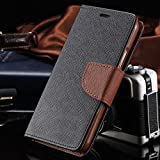 Thinkzy Artificial Leather Flip Cover Case for Lenovo Vibe K5 Note – Black, Brown