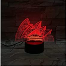 RENWUANG 3D Illusion lamp Led Night Light Sydney Opera House 3D Lamp Multi-Color Battery/USB Powered for Festival Lamp Best Cute Reward for Child