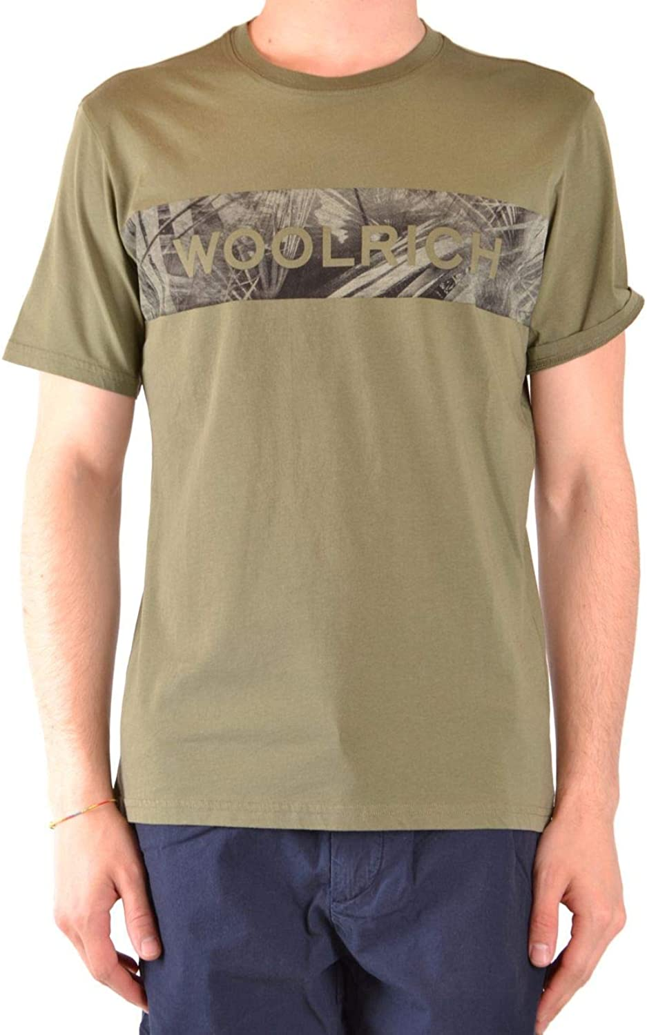 Woolrich Men's WOTEE1154UT14866373 Green Cotton TShirt