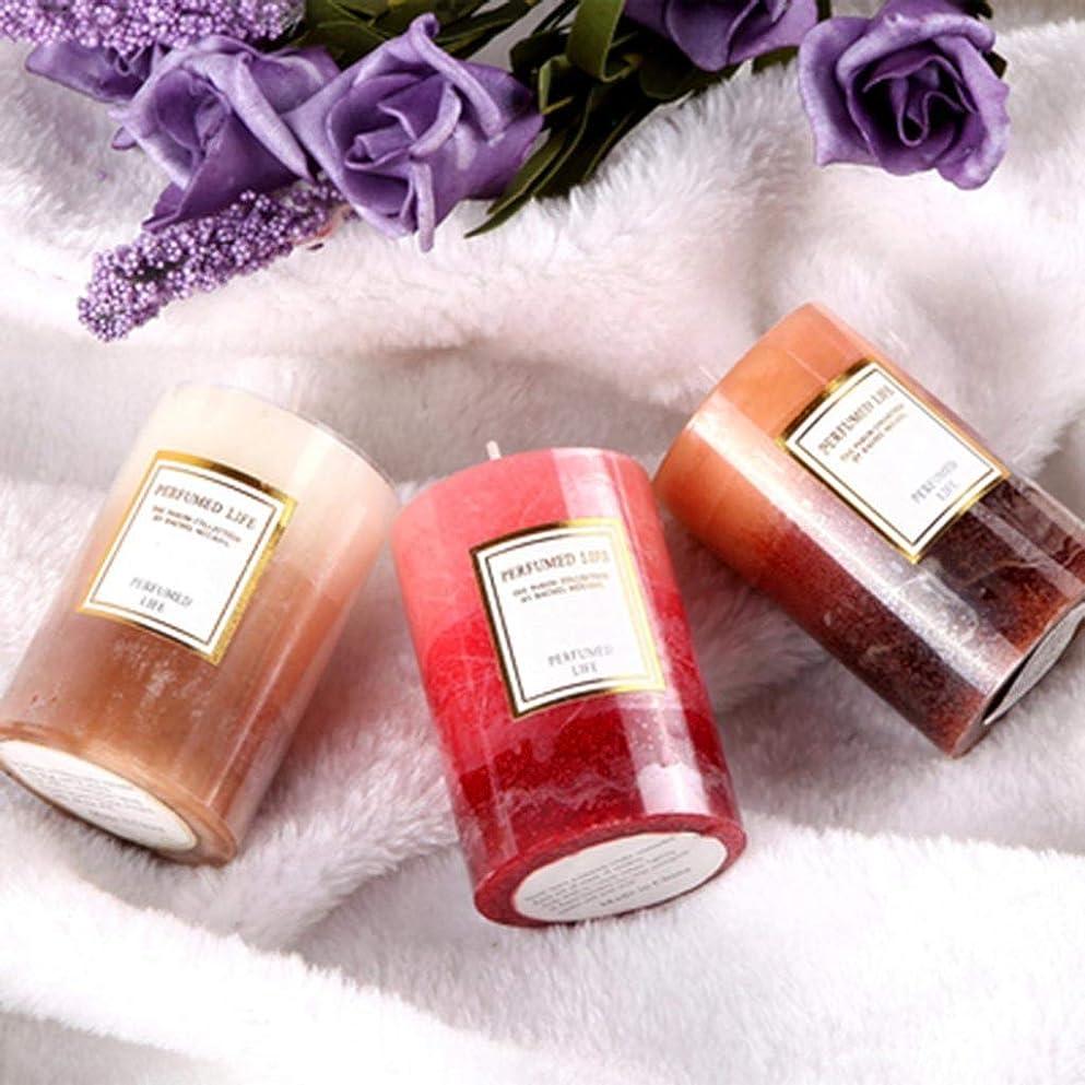 繰り返す購入刈るラオハオ アロマキャンドルホーム植物大豆ワックス無煙香りロマンチック燃焼20時間3ピース 屋内アロマセラピー (Color : Mixed incense)