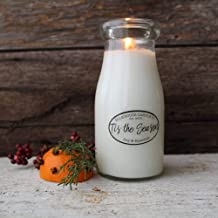 Milkhouse Creamery Soy Beeswax Scented Candle - Tis' the Season (8 Oz Milk Bottle) USA