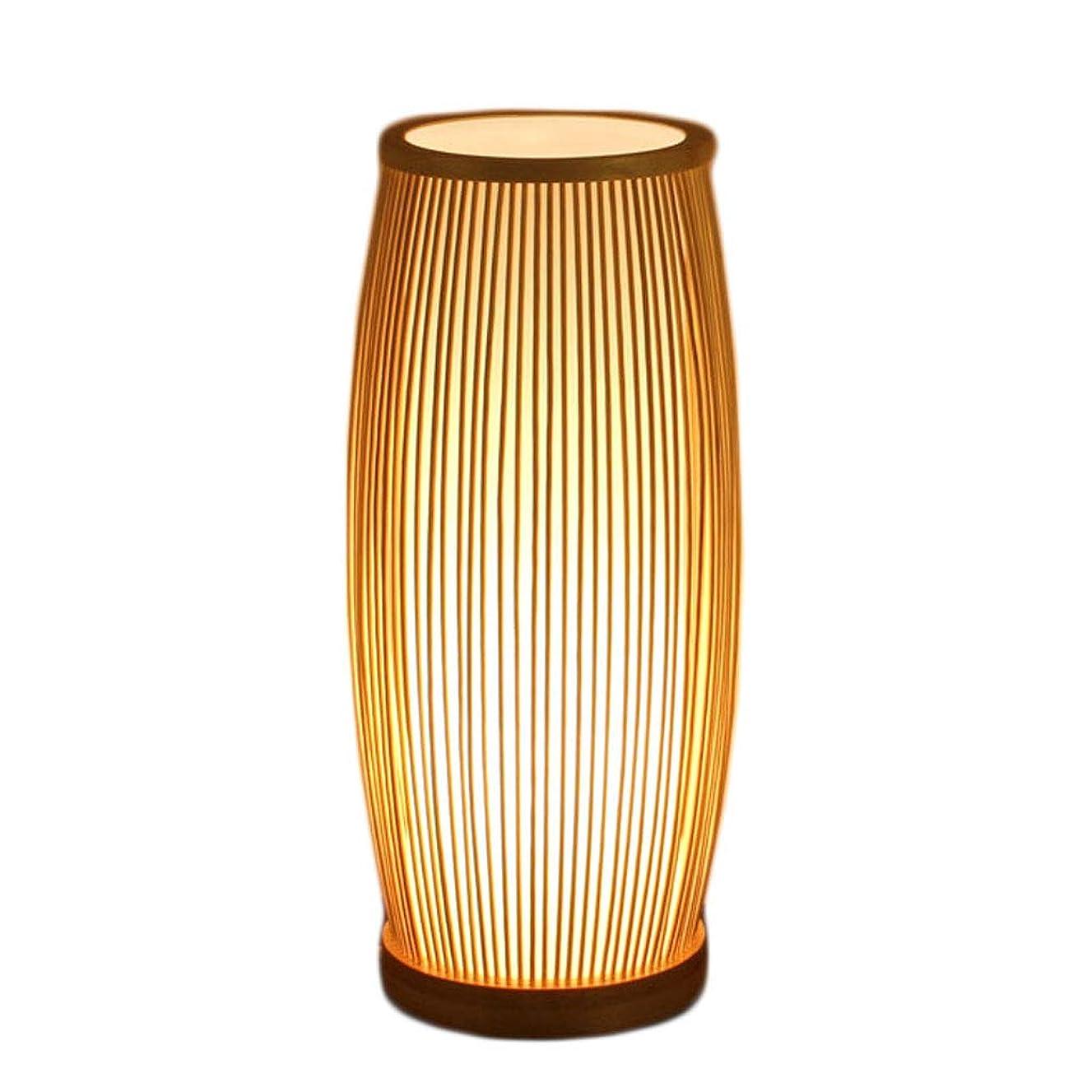 再開ラショナルジェットデスクランプ 寝室のベッドサイドテーブルランプシンプルモダン調光日本茶室竹ランプ研究リビングルーム暖かい36 * 16センチ手作り 耐久性のあるデスクランプ (Color : Brown, サイズ : 36x16cm)