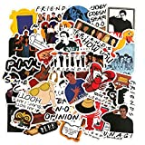 redCherry Friends TV Show Thema Aufkleber Laptop Aufkleber Computer Vinyl Aufkleber wasserdicht Bike Skateboard Gepäck Aufkleber Graffiti Patches Aufkleber 50 Stück(Friends)