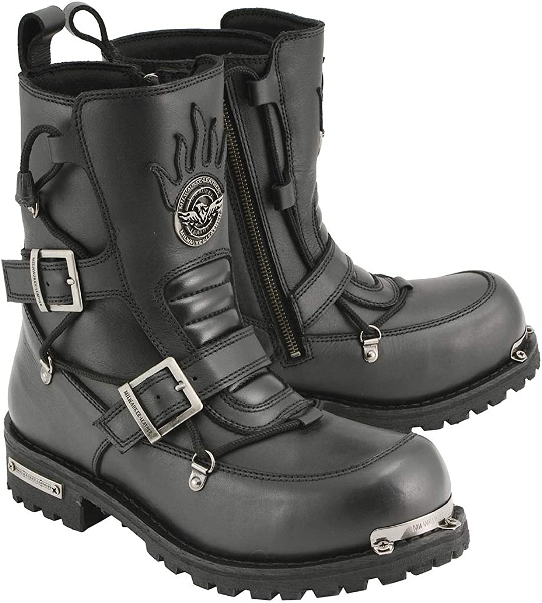 Milwaukee Leather Product MBM9076 Men's Black Logger Tactical Boots Cheap super special price with