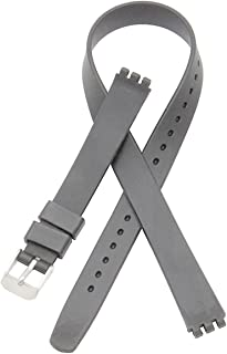 Replacement 12mm Lengthen Waterproof Silicone Rubber Watch Strap Watch Band for Swatch